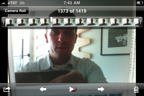 Recording myself via my iphone via my macbook pro