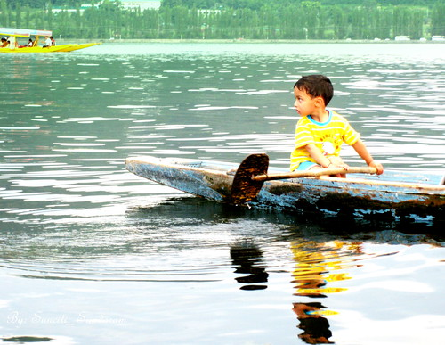Sailing to School in style,  Kashmir the Paradise series