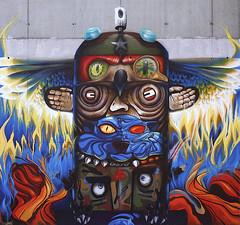 totem (BREakONE) Tags: wall fire graffiti gg mural break totem spray graffity totempole void 2009 obie teil m0 törökbálint breakone obieone mnulla