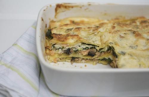 3815789140 12ebcaf355 Creamy Salmon & Tarragon Lasagna