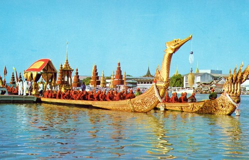 "Royal barge -Bangkok, Thailand -  Non. 121 Q   Grand Palace , page 498, ""1000 Places To See Before You Die""."