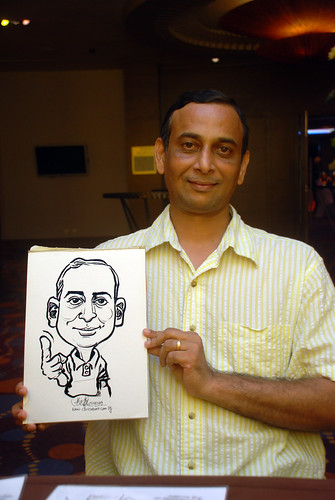 Caricature live sketching for Standard Chartered Bank - 21