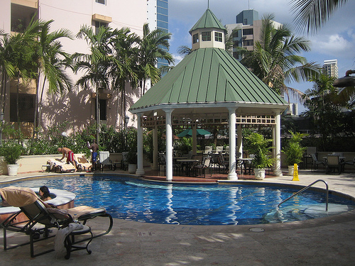 Panama City Panama-Mariott Hotel-Pool area