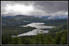 LOCH GARRY, SCOTLAND. (IMAGES OF WALES.... (TIMWOOD)) Tags: bridge camping trees mist lake mountains rain clouds scotland highlands sony tent hills loch alpha glengarry lochgarry a87 invergarry a700 vosplusbellesphotos