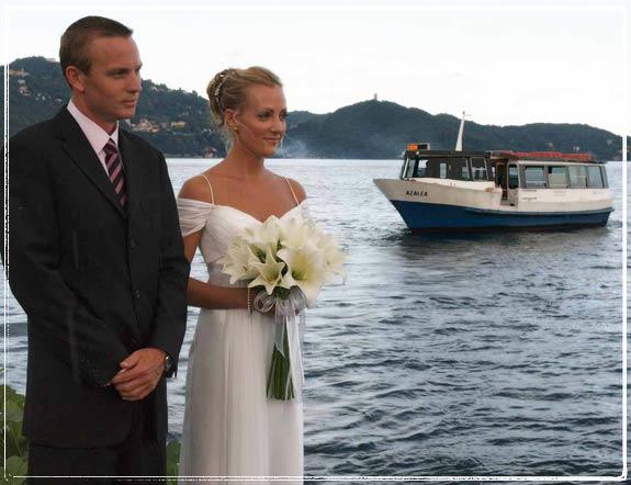 Symbolic blessing ceremony on Isola San Giulio, Lake Orta