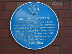 Photo of Richard Oastler blue plaque