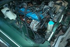 leftern (banter) Tags: green engine dodge mopar envy 1977 225 pimpmobile slantsix greenenvy