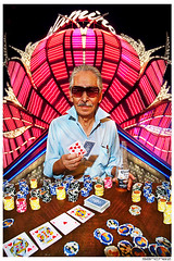 .el jefe. (.SANCHEZ.) Tags: family portrait gambling reflection sunglasses digital photoshop canon fun cards lights funny colorful glow bright lasvegas vibrant chief flamingo grandpa corona texasholdem sanchez pokerchips pimpdaddy eljefe flossin 40d kennysanchez kennysanchezcom