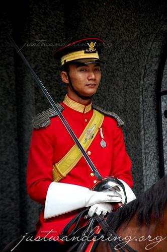 Mounted royal guard