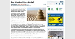 Can 'Curation' Save Media