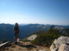 Cole on the summit of Parker Peak, Selkirk Mountains, North Idaho.