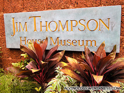 Entrance to the Jim Thompson House museum