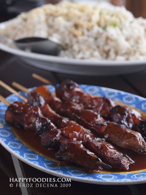 Pork Barbecue (P15/stick) and Kalkag (Dried Shrimp Rice P80)