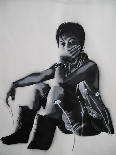 girl stencil