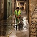Street Cleaner, Barrio Gotico - Click thumbnail for image options