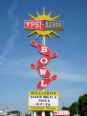 Ypsi-Arbor Bowl (Eridony) Tags: sign colorful bright michigan neonsign m17 washtenawcounty ypsiarborbowl ypsilantitownship washtenawavenue