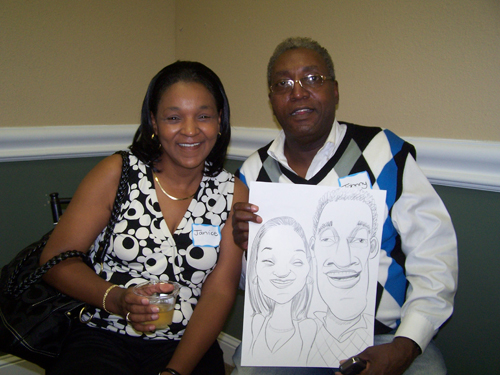 live caricature - Bride's Lounge