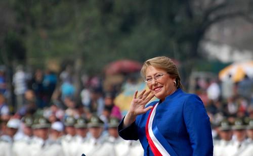 Michelle Bachelet (presidenta de la República de Chile!)