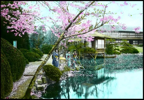 TEA-HOUSE GEISHA in the FUGETSU GARDENS of OLD JAPAN