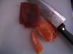 Tuna and Salmon for Sashimi