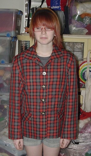 Plaid Jacket Before Refashioning