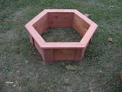 hex planter box