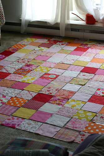 Laying out my quilt!