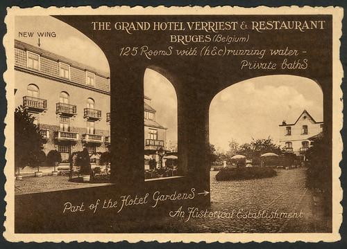 Grand Hotel Verrriest, Bruges- postcard