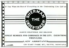 Sherman the Undertaker, Butte, Montana (1901)