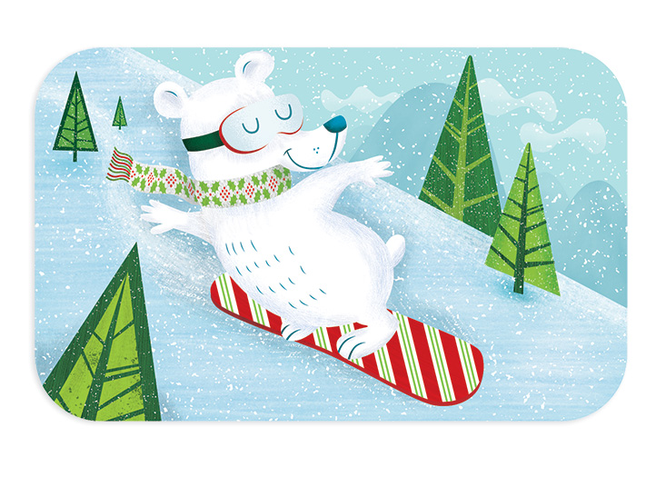 Target Gift Card: Snowboarding Bear