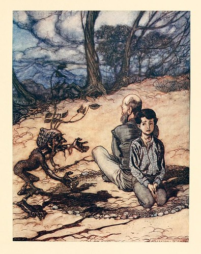 016-El rey de la montaña de oro- Snowdrop & other tales 1920- Grimm-Ilustrada por Rackham