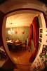 Fisheye dining room (hpulley) Tags: winter interior fisheye scavengerhunt peleng8mmf35 auburnphotographyclub canondigitalrebeleost1i pentaxscrewtoefmountconverter