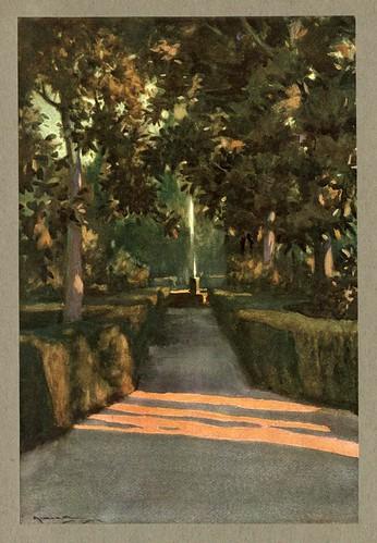 014- Los jardines del Generalife-An artista in Spain 1914- Michael Arthur C.