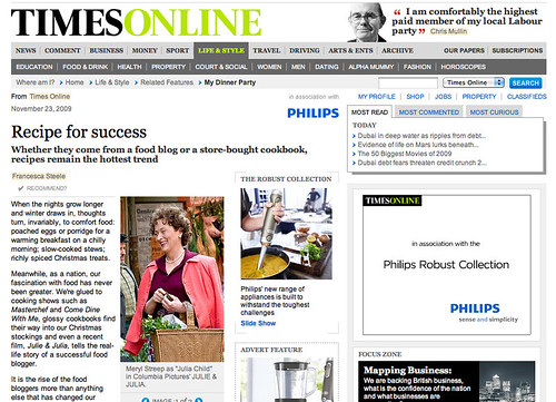 Times Online Recipe for Success
