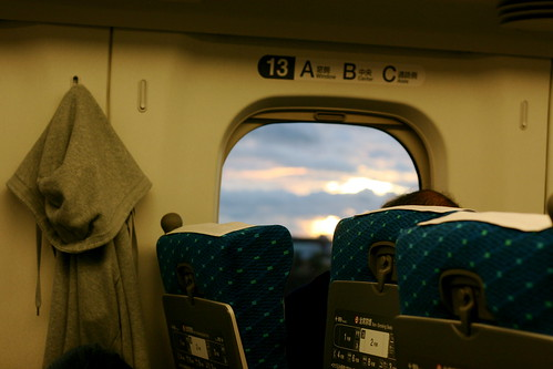 Sunset from the Bullet Train