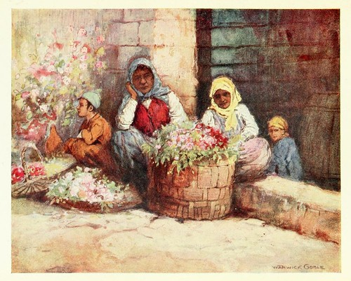 006- Floristas- Constantinople painted by Warwick Goble (1906)