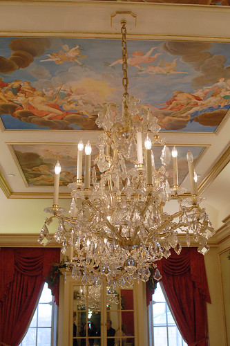 Chandelier in the Austrian Room.