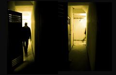 exit (Fotis ...) Tags: yellow exit wayout concretecorridor manbehindthedoor