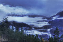 Nights in white satin (janusz l) Tags: autumn white snow mountains cold fall fog clouds point geotagged whistler evening view valley squamish seatosky janusz leszczynski nightsinwhitesatin geo:lat=49847503 geo:lon=123148482 004042