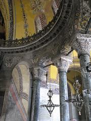 Trompe l'oeil arch, Hagia Sophia (rwchicago) Tags: turkey cathedral basilica muslim istanbul mosque christian unescoworldheritagesite hagiasophia lightandshadow byzantine islamic sultanahmet constantinople byzantium