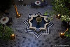 Morocco interior garden (Justin Rousseau) Tags: garden morocco fes riad
