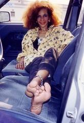 Barefoot Passenger (RoughToughSoleMan) Tags: girls woman cars car female fetish foot h