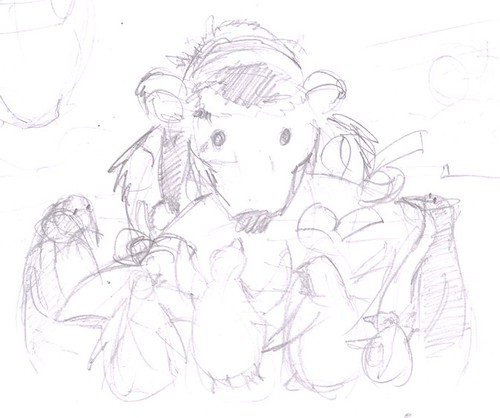Rough sketch for xmas card