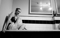 German Lollipop (ayngelina) Tags: woman toronto ontario bathroom play performance blonde actor slip perform gladstone washroom tiling latrine gladstonehotel canadaactress