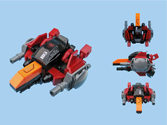 Maikuro Fighter 10 (Fredoichi) Tags: fighter lego space micro shooter shootemup starfighter shmup microscale fredoichi rtypish