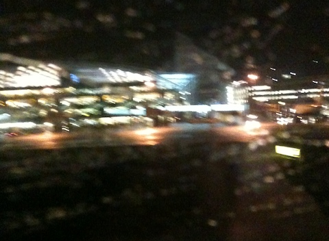 Blurry rainy LHR T5