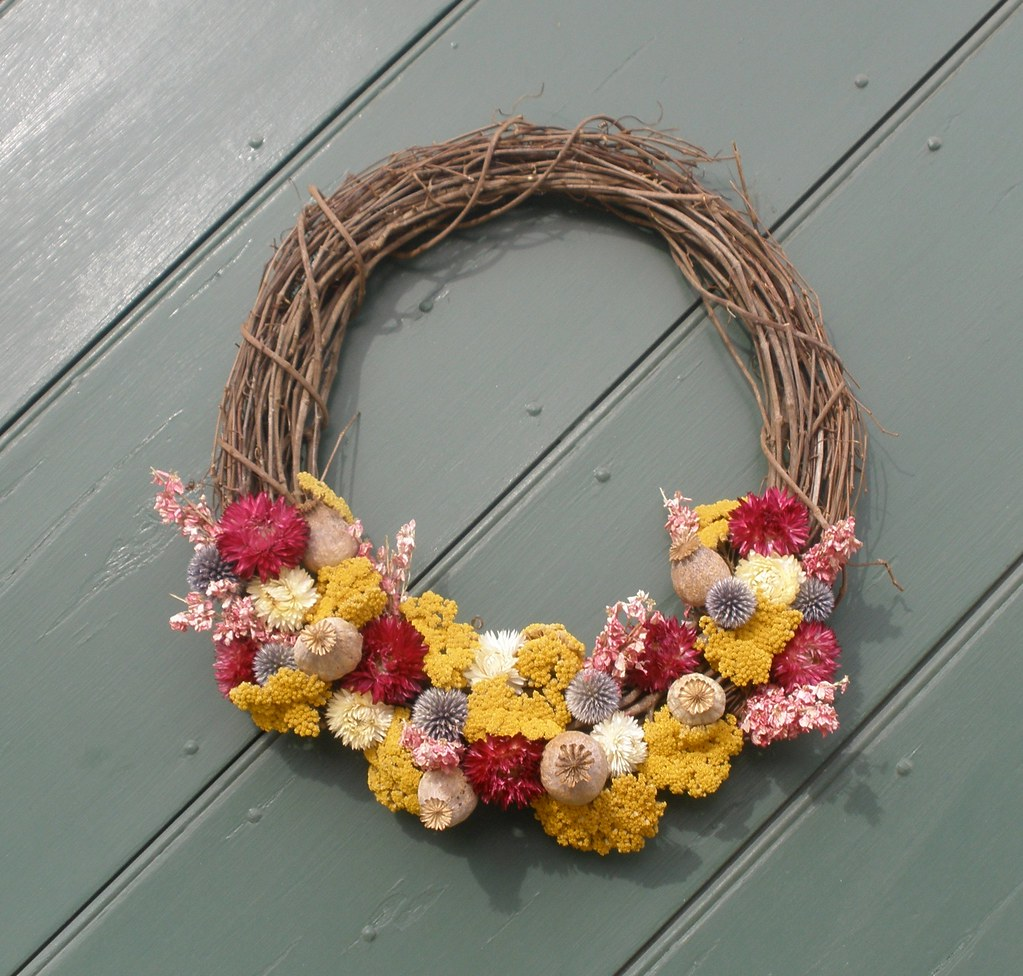 Dried Flower & Grape Vine Wreath