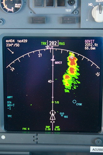 737NG Navigation Display with weather ra by CDN Aviator, on Flickr