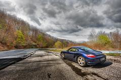 Porsche Cayman (Nick-K (Nikos Koutoulas)) Tags: sport clouds greek nikon s nikos greece porsche cayman gt f4 vr nickk pdk 1635mm  gvr kozani kastania    d700  koutoulas