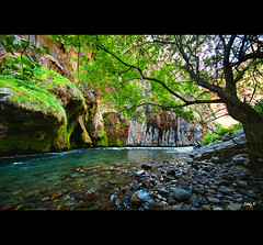 A Magic Place (EddyB) Tags: espaa ro river landscape spain nikon europa europe paisaje catalonia canyon vegetation catalunya catalua can lleida vegetaci vegetacion espanya eddyb humanfactor can sigmaaf1020mmf456exdchsm ltytr1 congostdecollegats d300s factorhumano nogerapallaressa